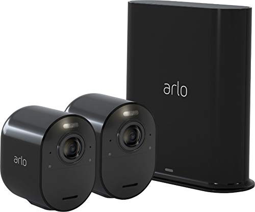 Arlo Ultra - 4K UHD Wire-Free Security 1 Camera System | Indoor/Outdoor with Color Night Vision, 180° View, 2-Way Audio, Spotlight, Siren | Works with Alexa and HomeKit |Black