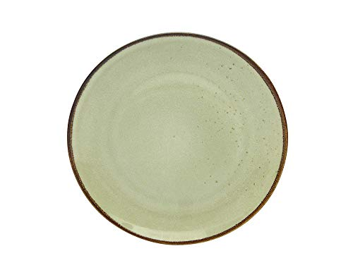 Creatable, Nature Collection Earth 22055 - Juego de 6 platos llanos (27 cm, gres), color blanco