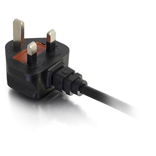 C2G 2 Metre UK Power Cable (IEC320C13 to BS 1363) 6 Foot Kettle Lead/Power Cord, Black