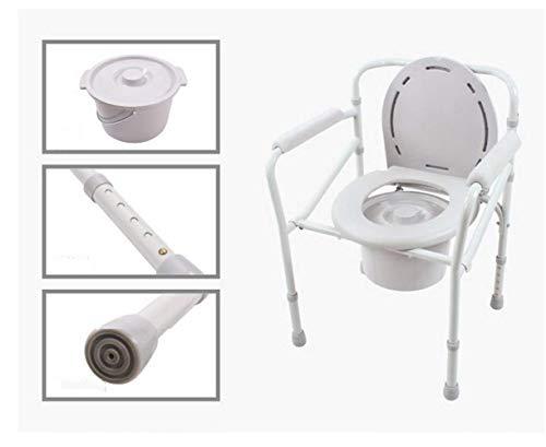 Nachttischkommode-Stuhl - Hochleistungs-Toilettensitz Aus Stahl, Erwachsener Nachttischkommode, Medizinischer Handicap-Toilettensitz, Weiß