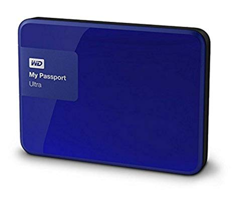 "WD My Passport Ultra - Disco Duro Externo portátil de 2 TB (2.5"", USB 3.0), Color Azul"