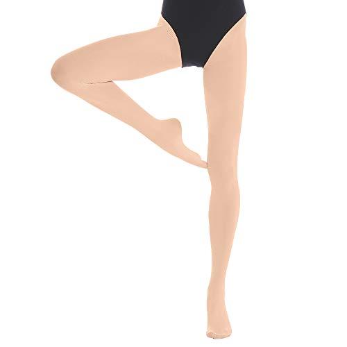 Medias de Ballet para Niños y Adultos (Medium(8-15 años), 1 Par Beige)