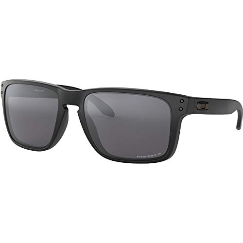 Oakley Men's OO9417 Holbrook XL Square Sunglasses, Matte Black/Prizm Black Polarized, 59 mm