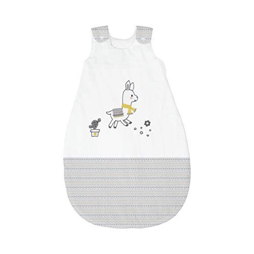 BORNINO HOME Gigoteuse Toutes Saisons Lama avec Motif brodé Gigoteuse bébé, Blanc/Gris