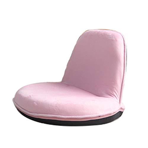 Sofa Stoel, Folding Lounge Chair Portable Legless Verstelbare Leisure stoel tapijt Pink Velvet Tatami for Erker, 54x54CM 417