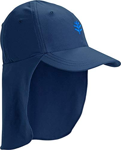 Coolibar UPF 50 Kids Surfs Up All Sport Hat Sun Protective Large X Large Navy product image