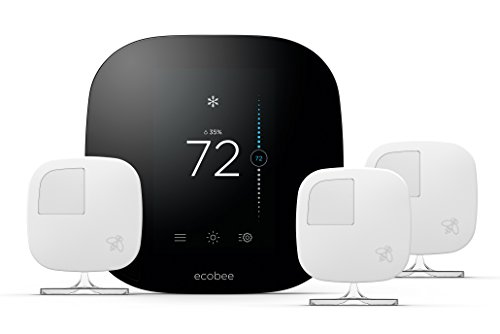 ecobee3 Smart Thermostat & 3 Room Sensors, Works with Alexa
