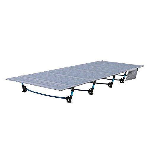 HUKOER plegable cama sofá cama al aire libre Viajes Camping senderismo aleación de aluminio ultraligeros cama plegable para acampada, dormir cama para Camping senderismo pesca 200 kg
