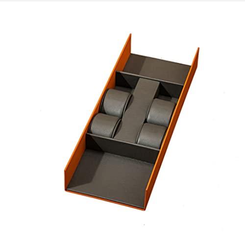 QIFFIY Caja de joyería de 36,2 cm de Largo y 5 cm de Altura y 15 cm de Ancho, Collar de Reloj de Reloj de Reloj de Reloj, Desmontable y apilable (Color : Orange)