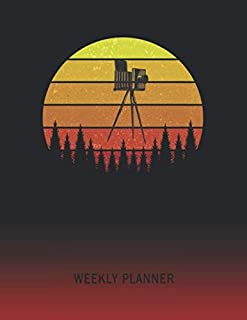 Weekly Planner: Old Camera | 2020 - 2021 | Plan Weeks for 1 Year | Retro Vintage Sunset Cover | January 20 - December 20 | Planning Organizer Writing Notebook | Productive Datebook Calendar Schedule | Plan Days, Set Goals & Get Stuff Done