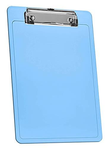 """Acrimet Clipboard Memo Size A5 (9 1/4"""" x 6 5/16"""") Low Profile Clip (Plastic) (Clear Blue Color) (3 Pack) Photo #2"""