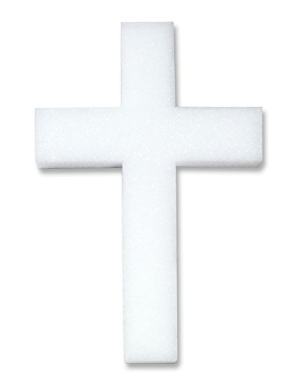 FloraCraft Styrofoam Unassembled Cross 1.8 Inch x 8 Inch x 12 Inch with 1.5 Inch Face White