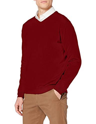 Pierre Cardin Herren Knit V-Ausschnitt Pullover, Rot (Crimson 5001), Large