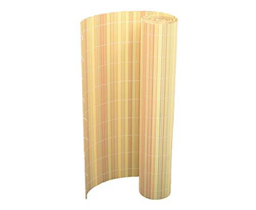 Kunststoffmatte 180 x 200cm Farbe: Bambus Modell Exclusiv - Sichtschutz Balkon Terasse Garten Sicht Schutz Sonnenschutz Windschutz