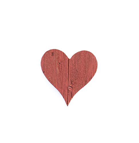BarnwoodUSA Rustic Farmhouse Wood Heart   Valentines   Wall Decor   Rustic Red   Made from 100% Reclaimed and Recycled Wood   6