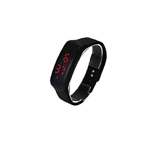 Odoukey El Reloj Unisex del Cuarzo de la Manera Digital Deportes Reloj de Pulsera con Silicona Brazalete