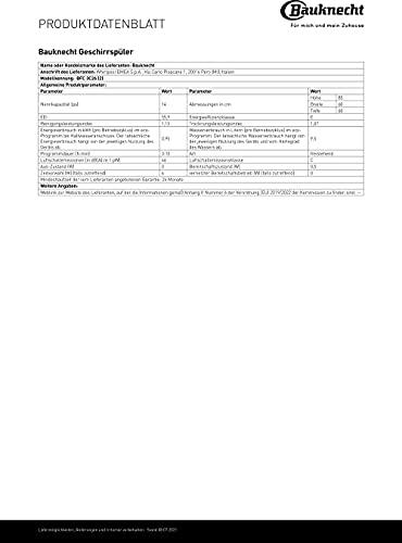 Bauknecht BFC 3C26 Freistehender Geschirrspüler / A++ - 12
