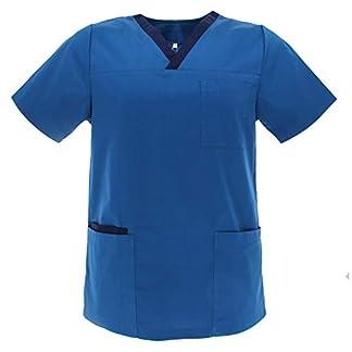 MISEMIYA – Casaca Unisex MÉDICO Enfermera Uniforme Limpieza Laboral ESTÉTICA Dentista Veterinaria Sanitario HOSTELERÍA – Ref.G713