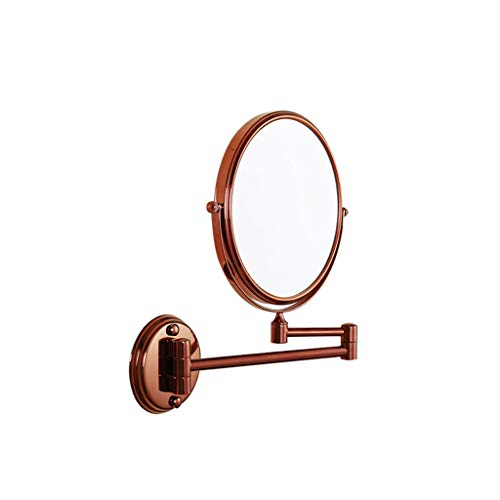 Vanity Mirror Small Wall-mounted Makeup Mirror 3X Magnifying Cosmetic Mirror Extendable Two Sided Vanity Mirror Best for Bathroom Bedroom Makeup Shaving Mirror for Bathroom Beauty Salon (Color : C)