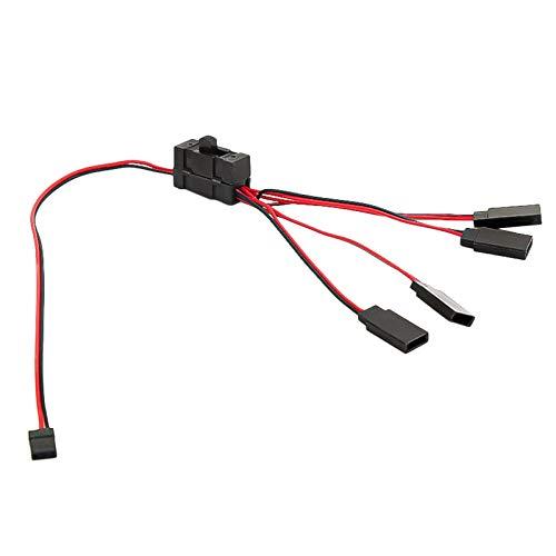 HomeDecTime Cable de Interruptor de Encendido / Apagado de Luz para -4 SCX10 RC Oil / Tram / Climbing Crawler