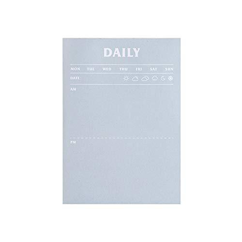 Aibecy 50 notas portátiles Notas Lista de tareas pendientes Función Bloc de notas Memo Diario Plan Libro 89x124 mm Fácil de rasgar para uso en el hogar Uso escolar
