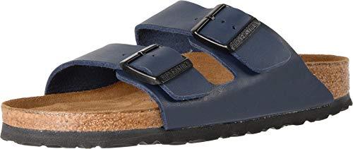 BIRKENSTOCK Womens Arizona Soft Footbed Blue Oiled Leather Sandal - 36 NAR