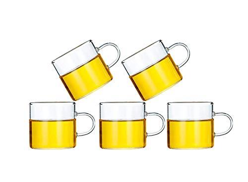 Hwagui- Starkem Borosilikatglas Teekanne Wasserkocher mit abnehmbarem Edelstahl-Ei und Deckel für Blooming Tee Cup Set [MEHRWEG]