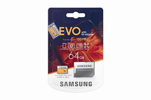 Samsung Evo memoria Flash 64 GB MicroSDXC Classe 10 UHS-I