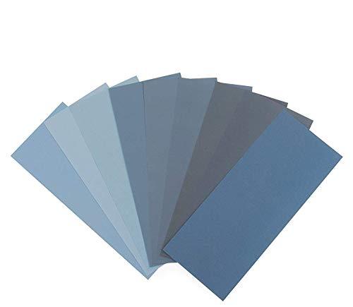Schleifpapier Set von Starcke | 400-3000 Körnung, 36 Stück | Nass und Trocken | Schleifpapier für Auto, Holzmöbel, Stein, Lack, Metall, Glas