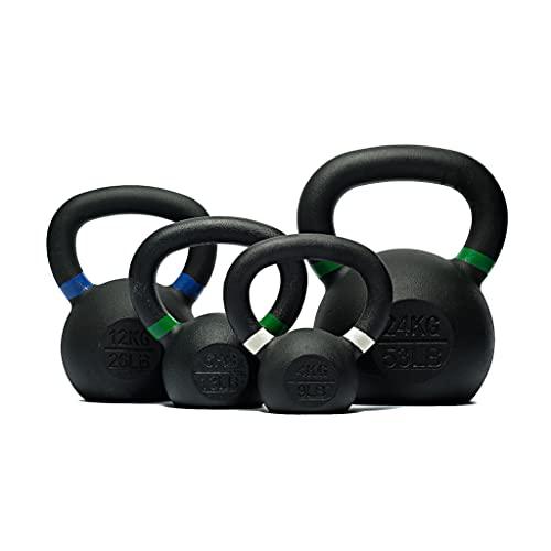 Manubrio Kettlebell in ghisa e ABS, con sfera, per allenamento con pesi, da fitness, 1 x 20 Kg