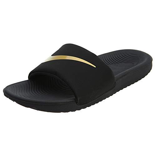 Nike Kawa Slide (GS/PS), Zapatos de Playa y Piscina, Negro (Black/Mtlc Gold 003), 37.5 EU