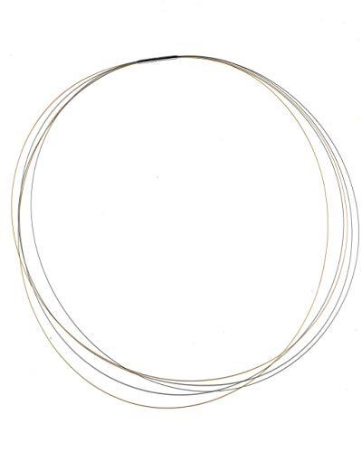 AQT Damen-Halsreif 08.002, BI-Color Edelstahl, 38-45 cm (45)