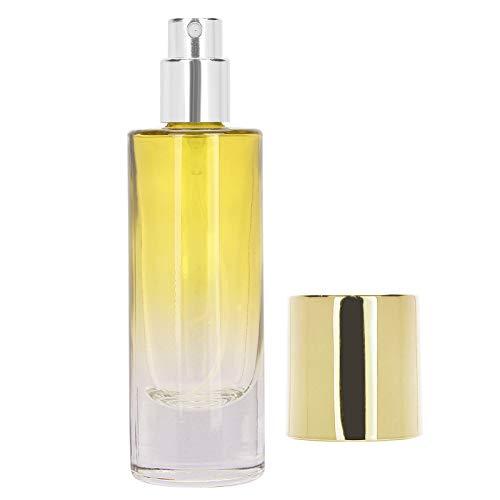 5 Pcs Atomizador Perfume Recargable, Botella de Spray de Perfume Portátil, Botella de Vidrio Transparente con Rociador Bomba y Tapa, 30 Ml Recargable Conveniente Atomizador Vacío(amarillo)
