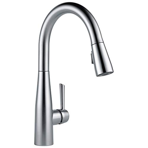Delta Faucet Essa Pull Down Kitchen Faucet with Pull Down Sprayer, Kitchen Sink Faucet, Faucets for Kitchen Sinks, Single-Handle, Magnetic Docking Spray Head, Arctic Stainless 9113-AR-DST -  Delta Faucet Company