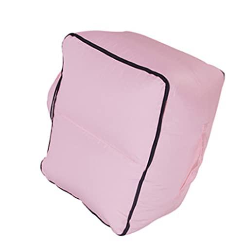 BAIXIAORYH - Reposapiés inflable para debajo del escritorio, taburete de pie, cojín de apoyo, cojín curvo en lágrima, terciopelo para casa, oficina, avión, avión y viajes BAIXIAORYH