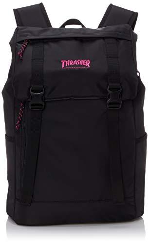 [スラッシャー] [ユニセックス] リュック 23L (コンパクト)[ THR-137 / Flap Backpack ] おしゃれ A4収納 BKPK_ブラック・ピンク