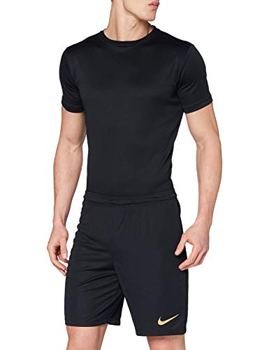 Nike Park II Knit Short NB – Pantaloni Corti da Uomo, Uomo, Pantalone Corto, 725887, Nero/Oro (Black/Jersey Gold), M