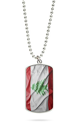 Kette Dog Tag Anhänger Libanon Fahne 1
