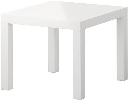 Ikea Lack Small Side Coffee Table High Gloss White Amazon Co Uk Kitchen Home