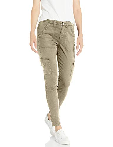 Daily Ritual Stretch Cotton/Lyocell Skinny Cargo pants, Sand, 42 Label:10