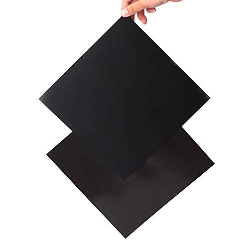 Impresora 3D Construir Superficie 220mm para Anet A8 para WanHao i3 Magnético Antideformación Desmontable Cuadrado Negro Eewolf