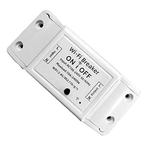 Sanfiyya Interruptor WiFi Inteligente Control Remoto inalámbrico WiFi Controlador de Interruptor para electrodomésticos industriales industriales