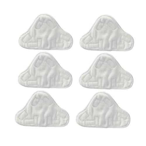 Tuimiyisou Almohadillas de Microfibra Lavable para Vax, Bionaire, Efbe-Schotte, Montiss y Delta fregonas de Vapor (6 Juegos)