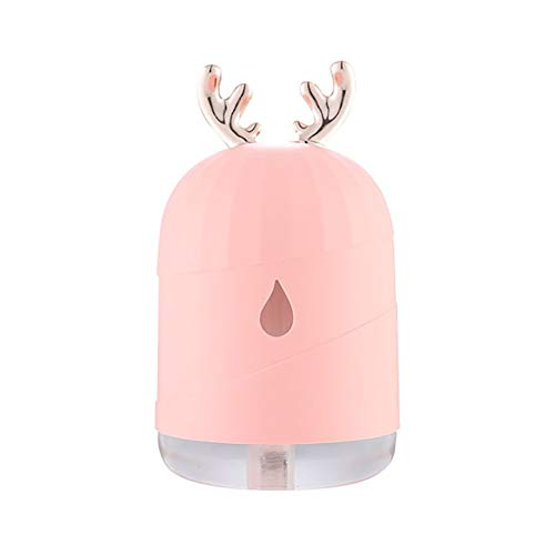 QZA,Crema hidratante de Piel Ultra-Recargable: Spray Facial, rociador de Nano-Mist, Spray Facial portátil para una hidratación Profunda, Banco de energía USB Recargable,Sprayerpink