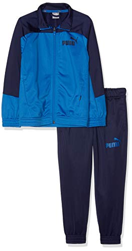 PUMA Jungen Poly Tricot Suits, Closed B Trainingsanzug, Strong Blue-Peacoat, 152