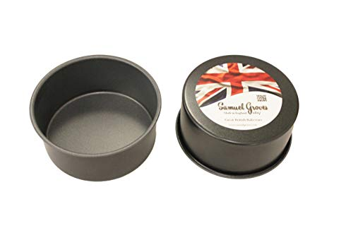 2X 6' (15cm) Deep Round Cake Tins Superior Double Coated Non Stick Fixed Base Made in England