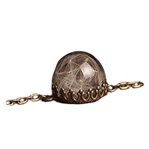 Pusteblume Armband Kettenarmband Verstellbar Armband Antik Messing Armband Glas Phiole Armband Pusteblume
