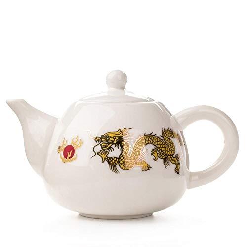 AFGH Tetera Tetera de cerámica de Kung fu Tetera China Juego de té de café Tetera de Flores Tradicional China Tetera de Porcelana