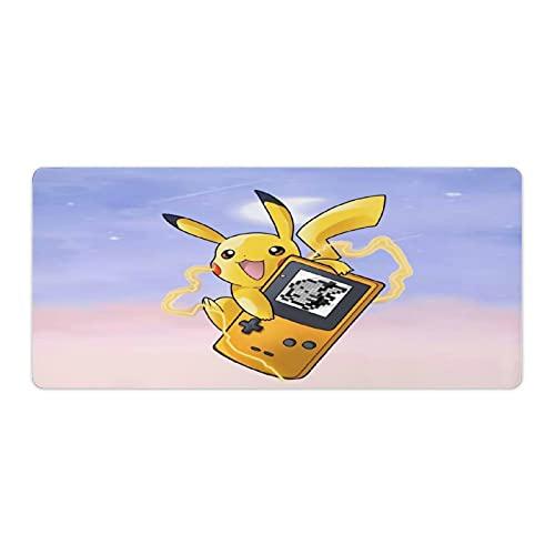Alfombrilla de ratón para juegos Pokemon Alfombrilla grande para teclado extendida con base de goma antideslizante, superficie lisa, bordes cosidos duraderos