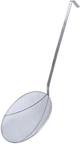Acero inoxidable Araña Colador Skimmer Cucharón para freír Cocinar Uso de utensilios de cocina Hogar / Restaurante Colador de cocina de metal profesional Colador de alambre Skimmer con mango